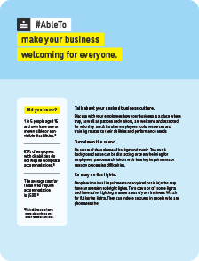 Thumbnail of the AbleTo make your business welcoming for everyone infographic.